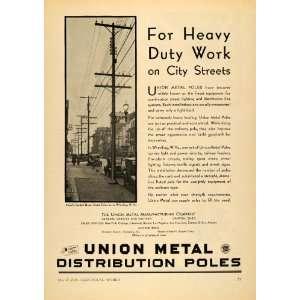 1930 Ad Union Metal Manufacturing Co Pole Wheeling W VA