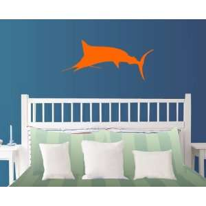 StikEez Orange Large Mounted Marlin Wall Decal