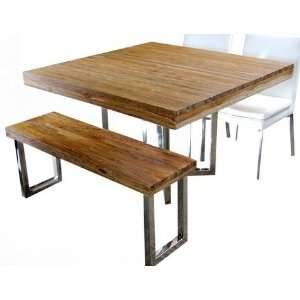 Reclaim Teak Wood Square Dining Table