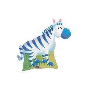 14 Mini Mylar Air Fill Zebra Balloon Cup & Stick  Toys & Games