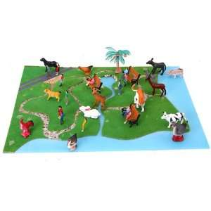 Animals Toy Model and Painted Model Train People Figures Toys & Games