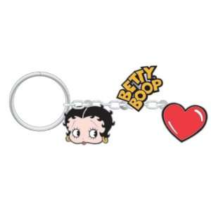Betty Boop Charm w/ Heart 3 In 1 Key Chain Automotive
