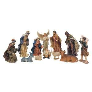 12 Piece Nativity Set Holy Religious Figurines With Manger