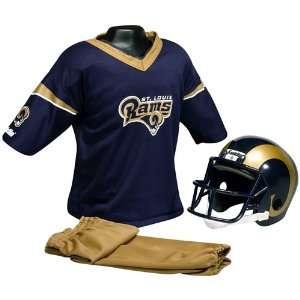 . Louis Rams Youth NFL Team Helmet and Uniform Set