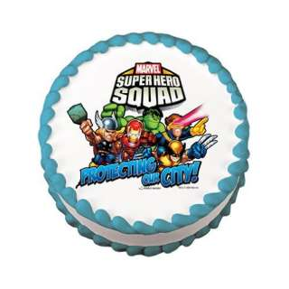 Super Hero Squad Edible Cake Image Birthday Party