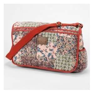 Patchwork Messenger Bag Luggage Travel Tote Book Bag Sports