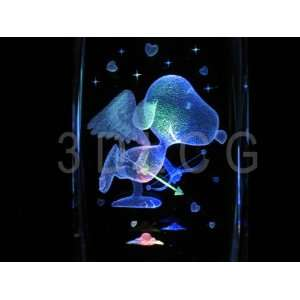 Peanuts Snoopy Cupid 3D Laser Etched Crystal: Everything