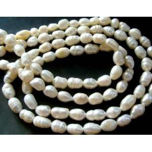 Elegant Man Made White Pearl Beads Necklace