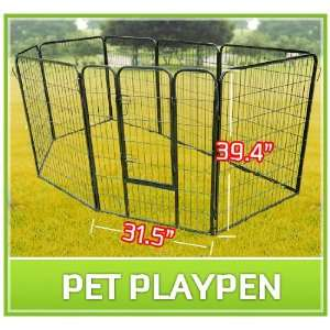 40 8 Panel Heavy Duty Pet Dog Portable Exercise Playpen