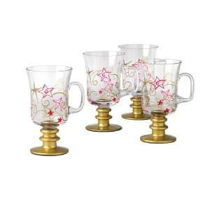 Pfaltzgraff Holiday Cheer Set Of Four 8 Ounce Irish Coffee