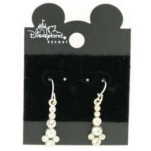 DISNEY MICKEY MOUSE HEAD PIERCED EARRINGS clear