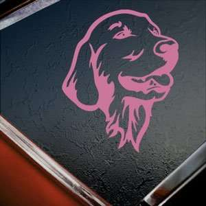Golden Retriever Pink Decal Car Truck Window Pink Sticker