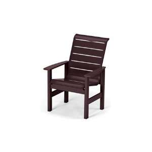 Strap Recycled Plastic Arm Patio Dining Chair Patio, Lawn & Garden