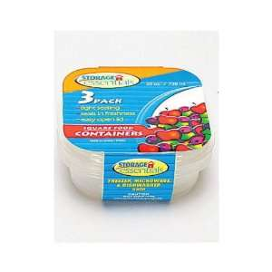 24 Packs of 3 Square Plastic Food Containers 25oz