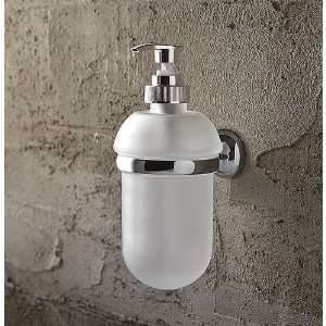 Wall Mounted Round Frosted Glass Soap Dispenser 1523 Home & Kitchen