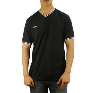 Mens Umbro black v neck soccer warm up jersey. Very high quality