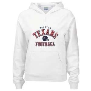 Reebok Houston Texans Ladies White Foil Helmet Hoody