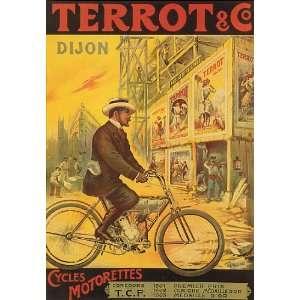 BICYCLE BIKE CYCLES TERROT DIJON FRANCE FRENCH VINTAGE
