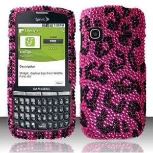 PINK LEOPARD Hard Plastic Bling Rhinestone Case for