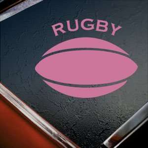 RUGBY BALL Pink Decal Truck Bumper Window Vinyl Pink