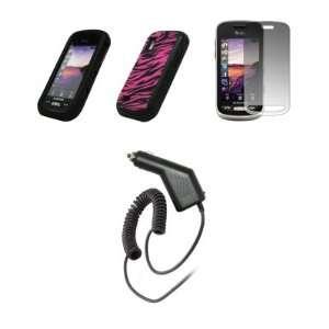 Samsung Solstice A887   Premium Black and Hot Pink Zebra