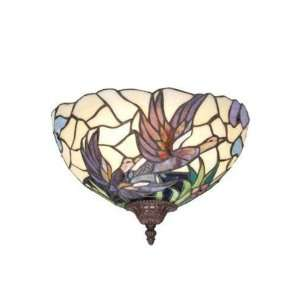 Stained Glass Wall Sconce Lamp Fixture Mission W1205