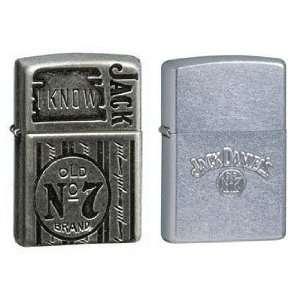 Zippo Lighter Set   Jack Daniels I Know Jack and Swing Stamped Logo