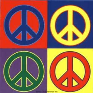 4 Colorful Peace Signs (Andy Warhol Style)   Sticker