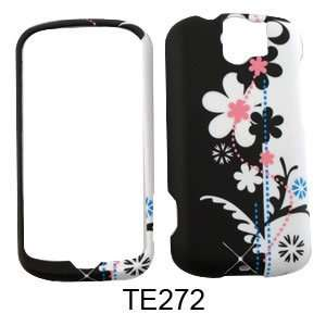 HTC My Touch 3G Slide Black and White Flowers Hard Case/Cover