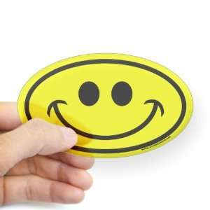 Classic Yellow Smiley Face Classic Oval Sticker by