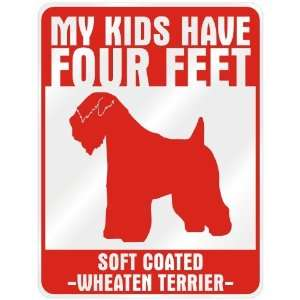 New  My Kids Have 4 Feet : Soft Coated Wheaten Terrier  Parking Sign