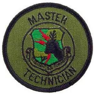U.S. Air Force Master Technician Patch Green 3 Patio