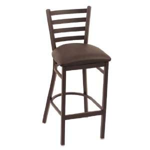 25 Stationary Black Vinyl Cambridge Counter Stool with