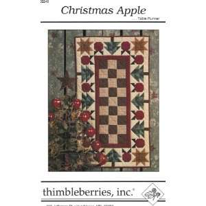 Christmas Apple Table Runner Pattern Arts, Crafts & Sewing