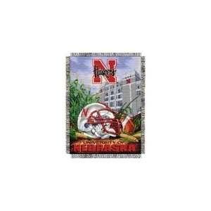 Nebraska Huskers NCAA Woven Tapestry Throw (Home Field