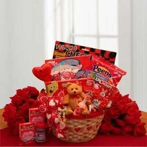Children Valentine Love Gift Basket My Little Valentine