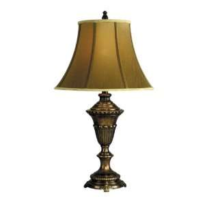 Dale Tiffany PT90282 Fabric Table Lamp, Multi Bronze and Fabric Shade