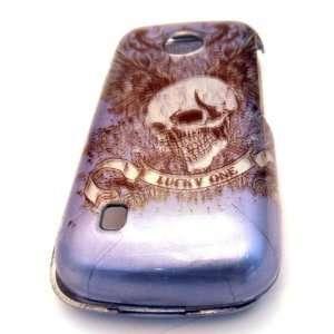 Tracfone LG 505c Blue Wing Skull Design HARD Case Skin
