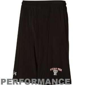 Under Armour Texas Tech Red Raiders Black HeatGear Micro Short