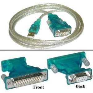 Cable, Type A Male to DB9/DB25 Male, 6 ft. USB Cables, USB Cables