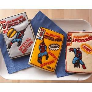 Marvel Comics Spider Man Comic Book Cookie Cutter Set