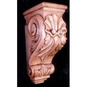 Solid Wood, Hand Carved Corbel, W5.25,H14,Dep7.25