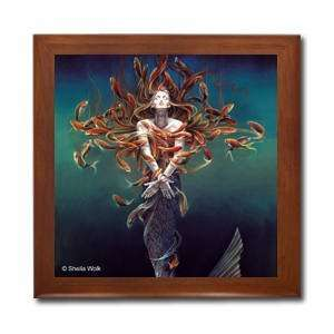 Metamorphosis Ceramic Wood Tile Box SWO22BX By Sheila Wolk