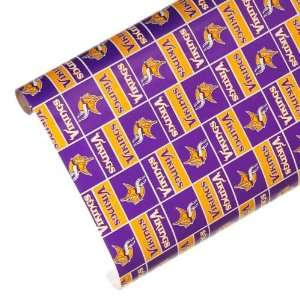 NFL Minnesota Vikings Spirit Block Wrapping Paper