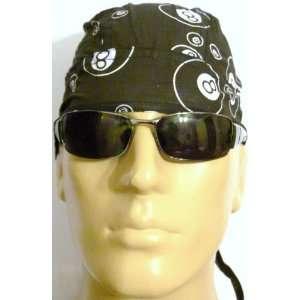 Bikers Cap/ Skull Cap/ Headwrap/ Medical Cap in Black and White Colors