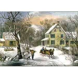 American Homestead Winter 1000 Piece Jigsaw Puzzle Toys