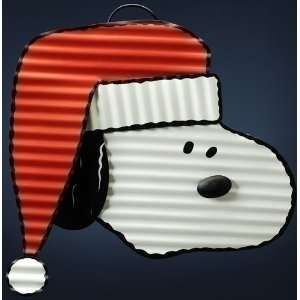 Snoopy Head with Santa Hat Christmas Yard Art Patio, Lawn & Garden