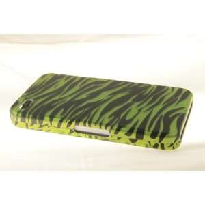 Apple iPhone 4 Hard Case Cover for Neon Green Zebra