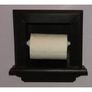 . In the wall Bathroom Toilet Paper Holder, inset in the wall between