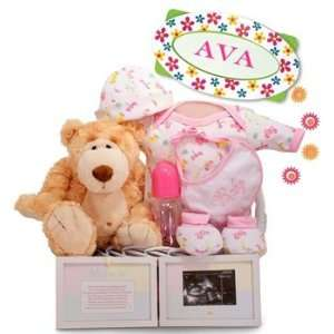 Personalized Oh Girl! Little Miracle Baby Girl Gift Basket: Baby